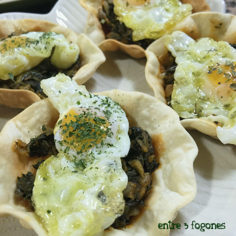 Photo of Tartaletas Rellenas de Acelgas y Huevo de Codorniz