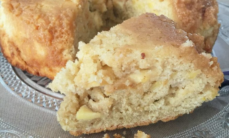 Pastel bretón de manzana y confitura de leche
