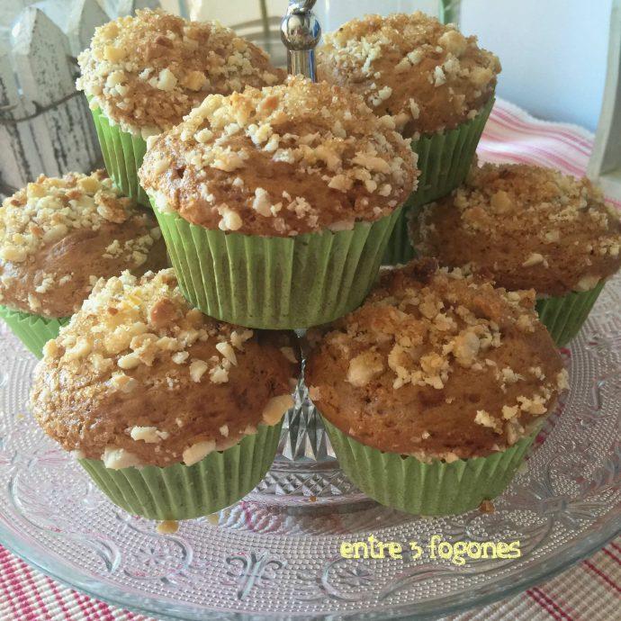 Muffins de Toffee con Topping de Nuez de Macadamia