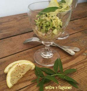 Tartar de Dorada en Verduras a la Verbena