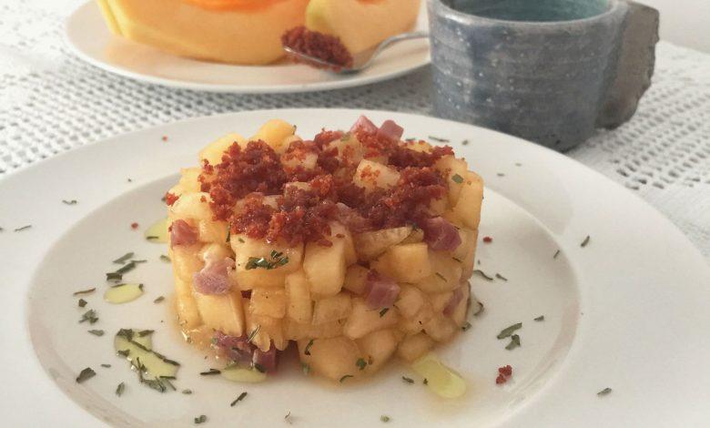 Tartar de Melón con jamón serrano