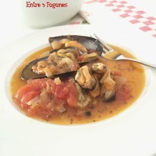 Mejillones en Escabeche con Tomate