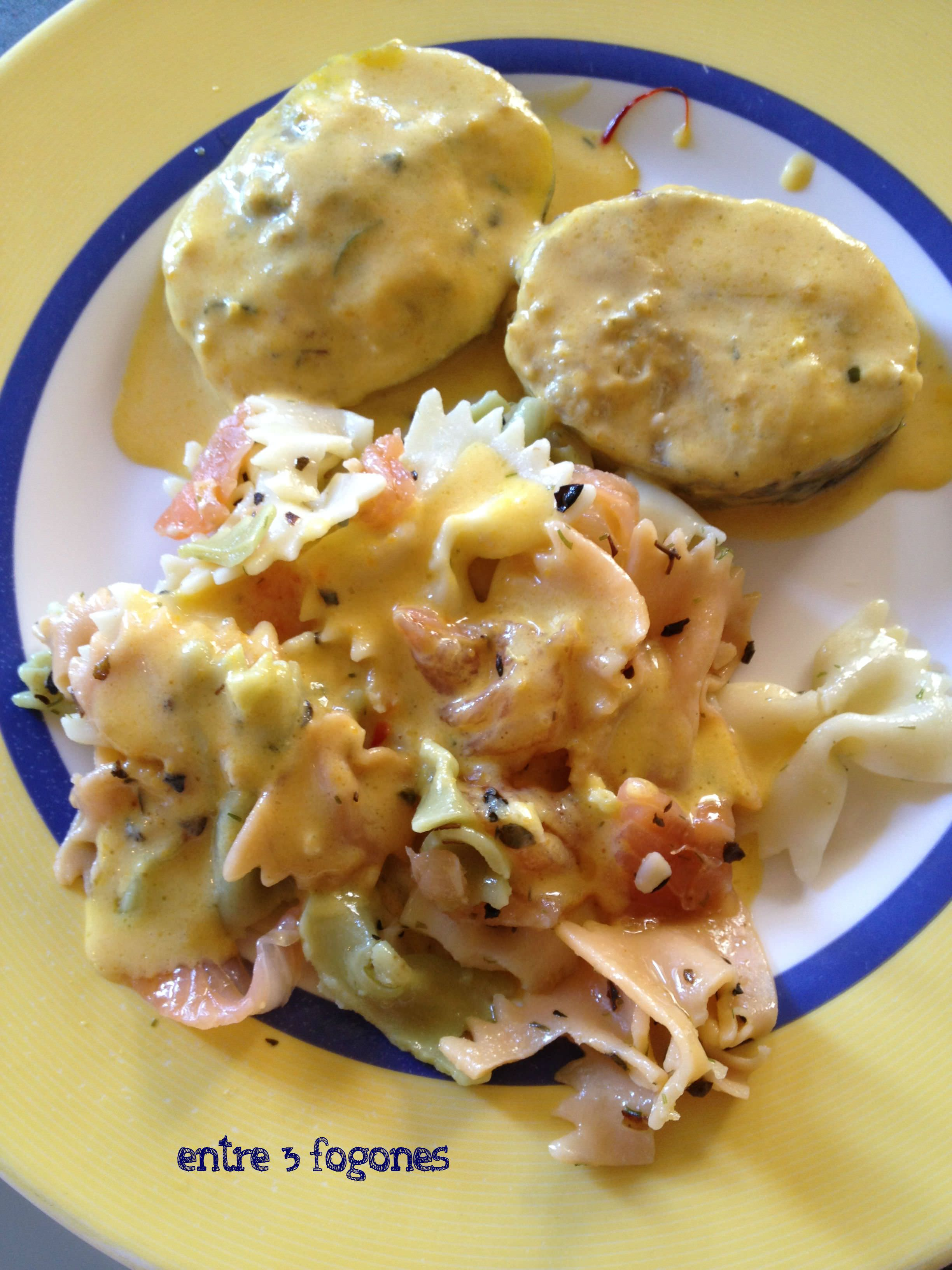Photo of Merluza al Azafrán y Pasta con Salmón Marinado
