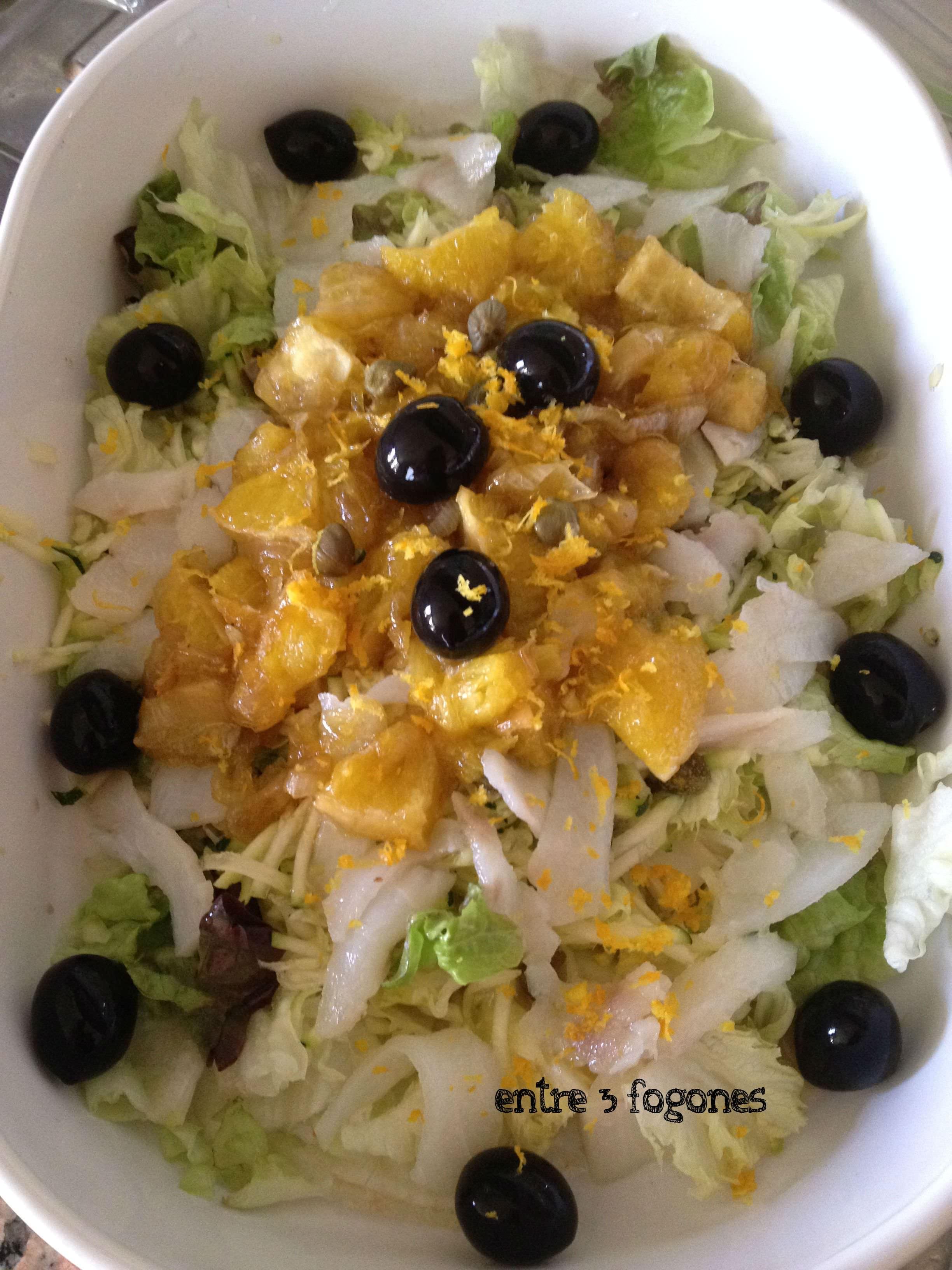 Photo of Ensalada de Bacalao Ahumado con Cebolla y Naranja Caramelizadas