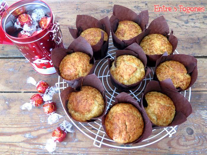 Muffins con Corazón de Bombón Lindt