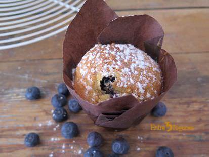 Muffins de Arándanos y Avellanas