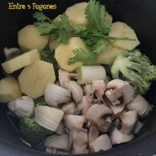 Crema de Brócoli y Champiñón
