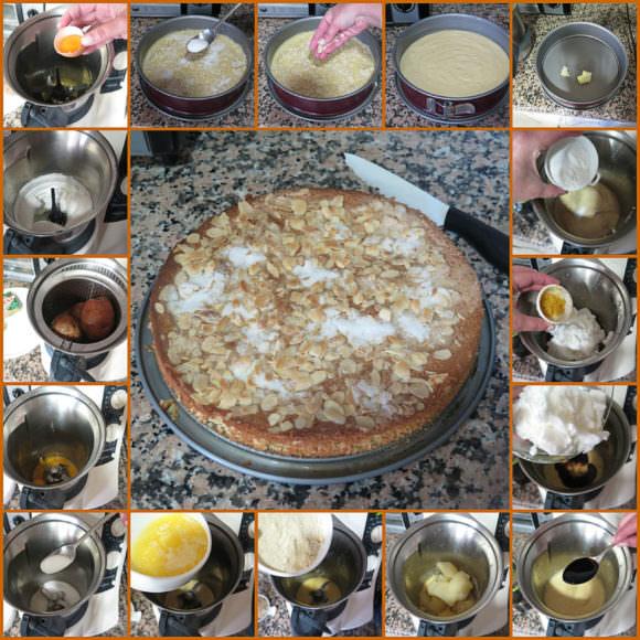 Pasos Bizcocho de Almendra y Patata