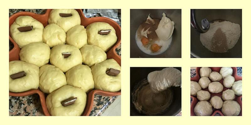 Pasos Brioche de Mascarpone con Onza de Chocolate
