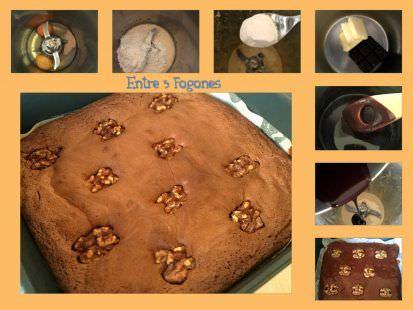 Pasos Brownie con Chocolate Puro y Nueces