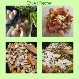 Pasos Cazuela de Pollo y Verdura con Dumplings