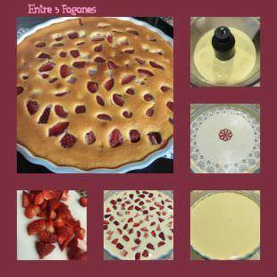 Pasos Clafoutis de Fresas