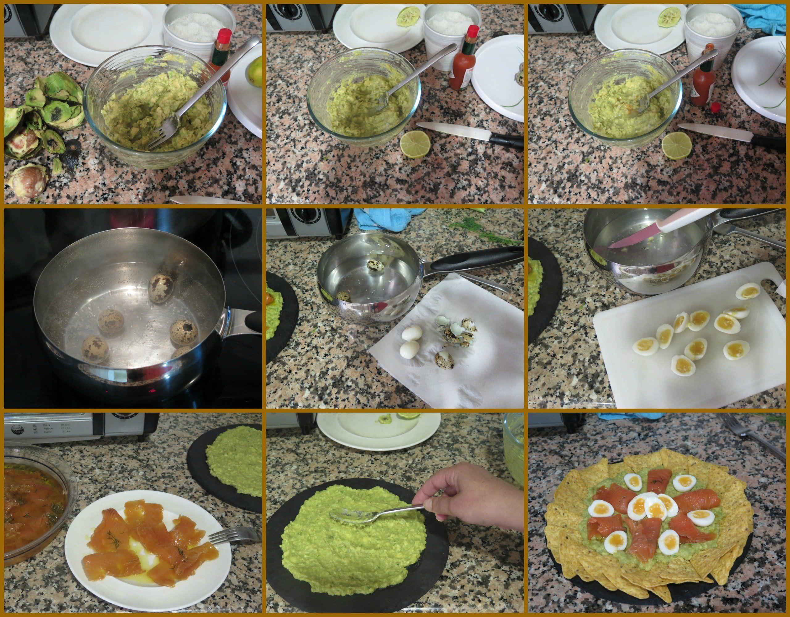 Pasos Crema de Aguacate con Salmón Marinado