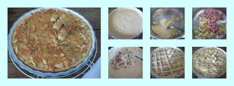 Pasos Crostata de Patatas y Jamón York