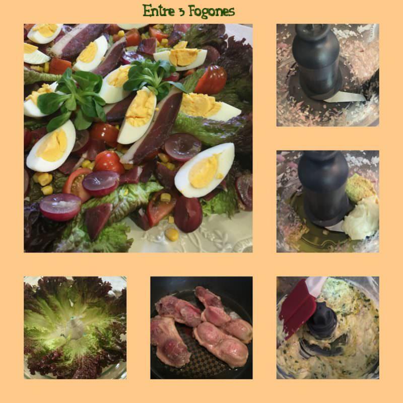 Pasos Ensalada Gourmet de Pato
