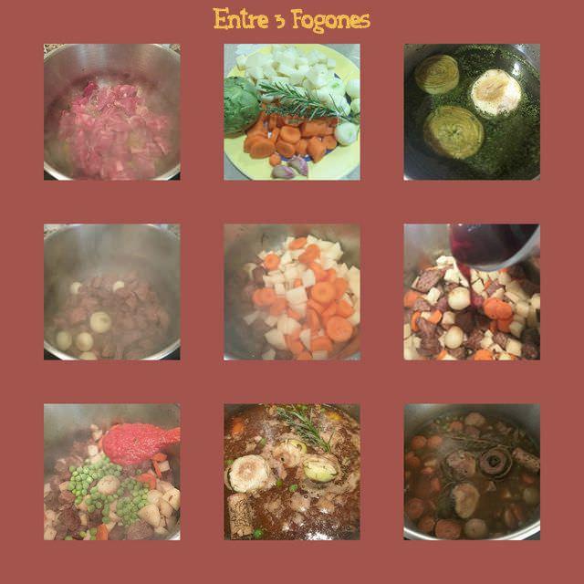 Pasos Ragu de Ternera con Verduras