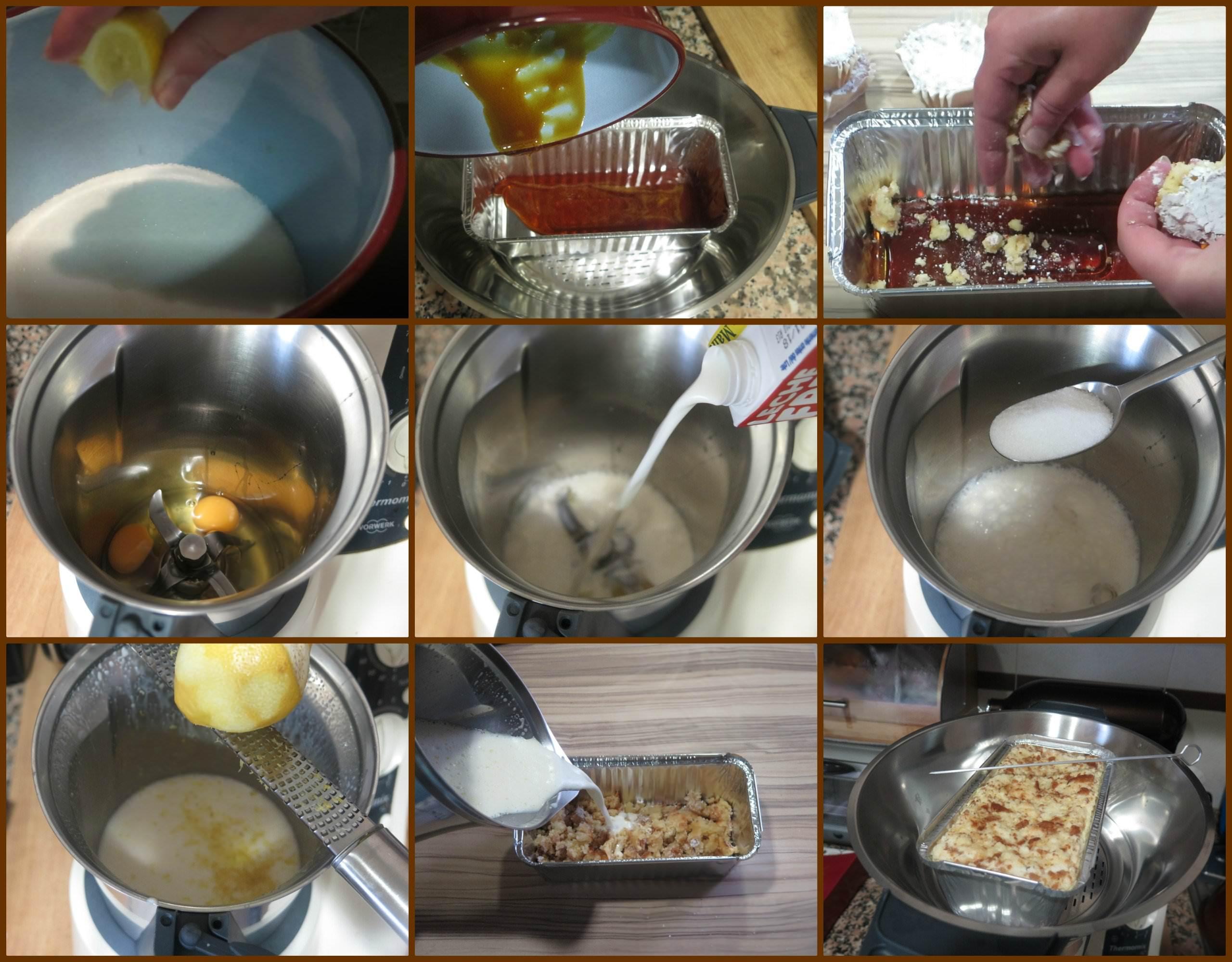 Pasos Flan de Huevo con Marquesitas de Almendra