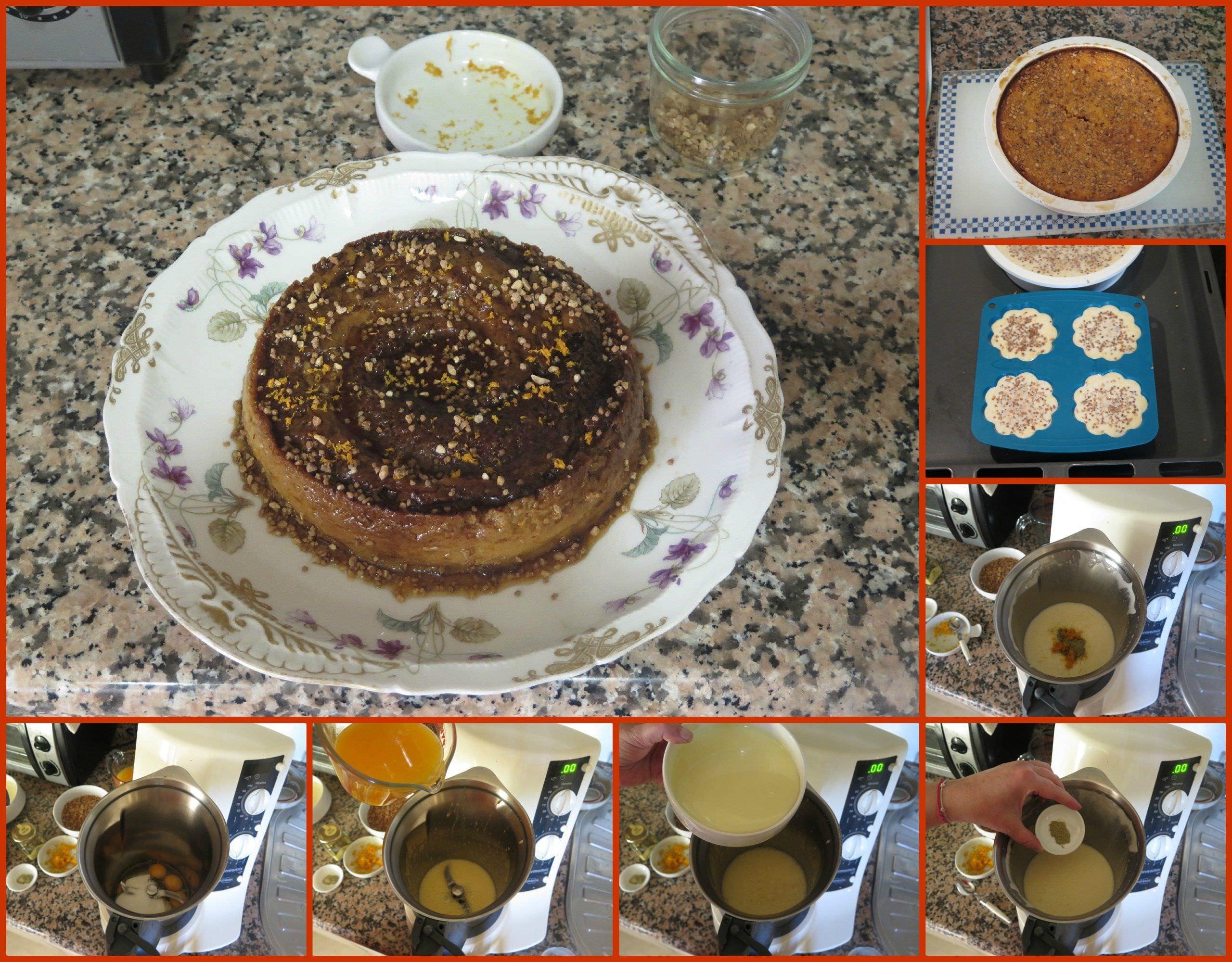 Pasos Flan de Leche Condensada con Naranja y Crocanti de Almendras
