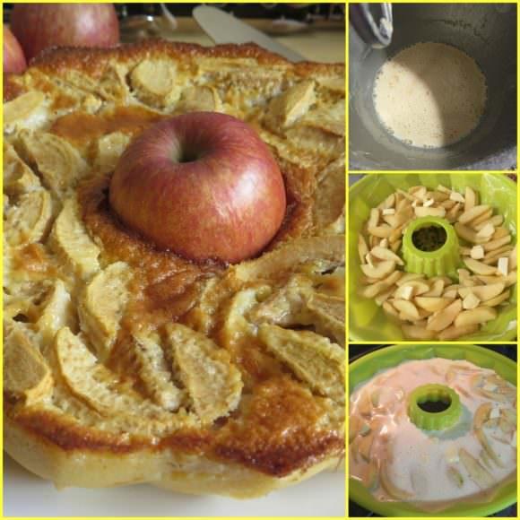 Pasos Flan de Manzanas