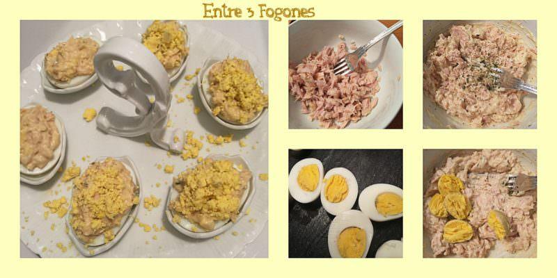 Pasos Huevos Rellenos de Bonito del Norte y Huevas de Lumpo