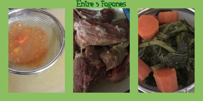 Pasos Macarrones con Lacon y Grelos en Salsa de Manzana