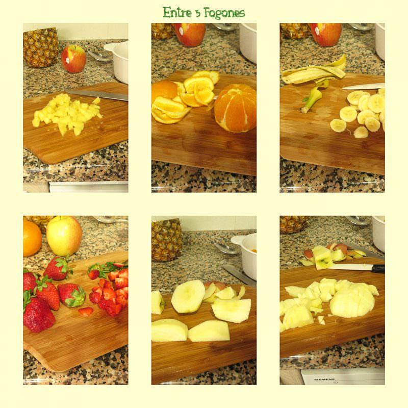 Pasos Macedonia de Frutas Naturales sin Azúcar con Sirope de Ágave