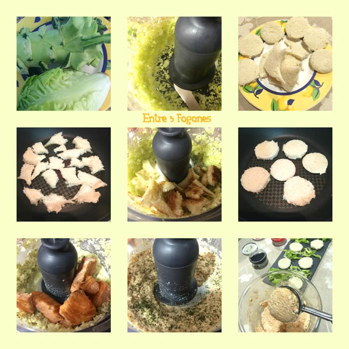 Pasos Canapés de Salmón con Tronco de Brócoli