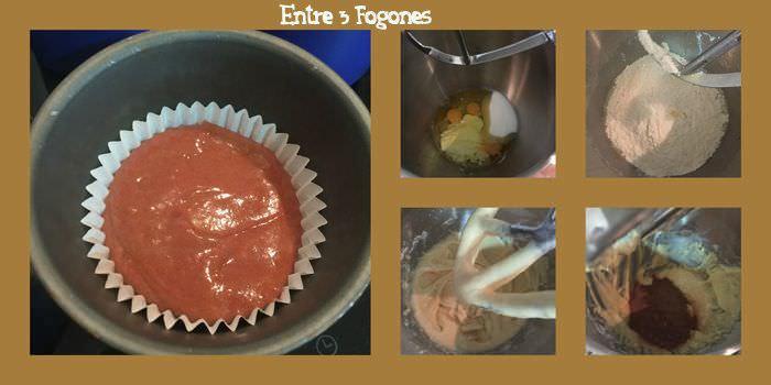 Pasos muffins de chocolate y yogur de cabra