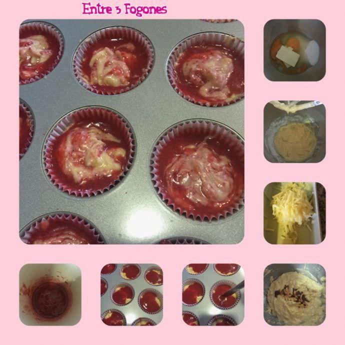 Pasos Muffins Marmolados de Manzana y Fresas