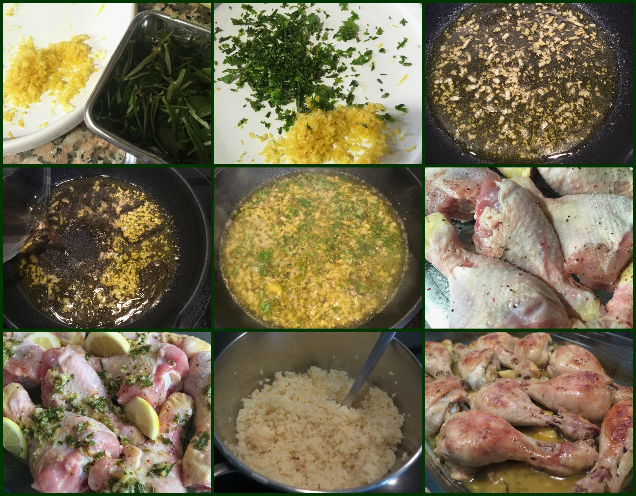 Pasos Muslos de Pollo al Horno con Limón y Hierbas Aromáticas