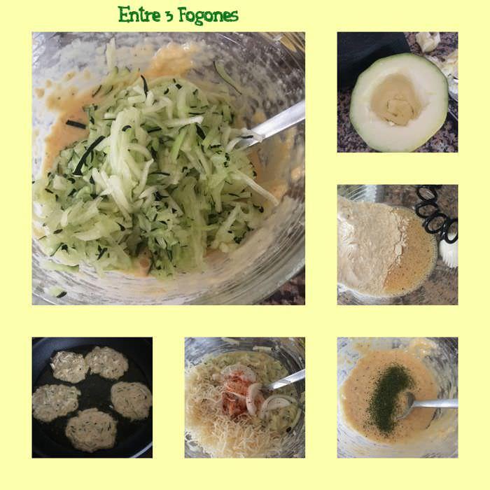 Pasos Tortitas o Pancakes de Calabacín