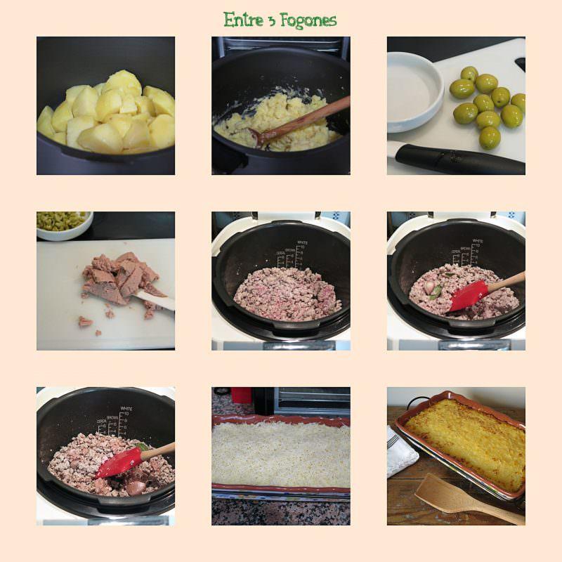 Pasos Pastel de Carne con Patata