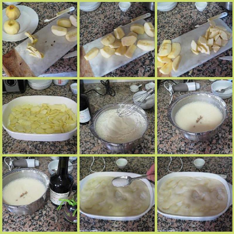 Pasos Pastel de Manzana al Calvados