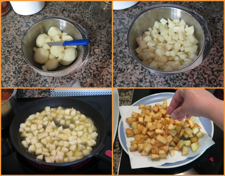 Pasos Patatas Fritas de Guarnición