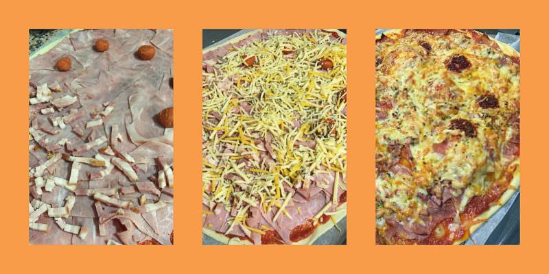 Pasos Pizza de Lacón con Sobrasada y Tapenade