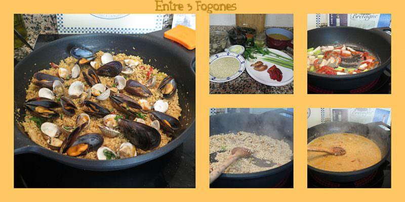 Pasos Risotto de Quinoa con Berberechos y Mejillones
