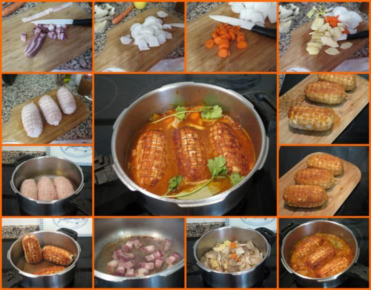 Pasos Roti de Pollo en Salsa de Setas