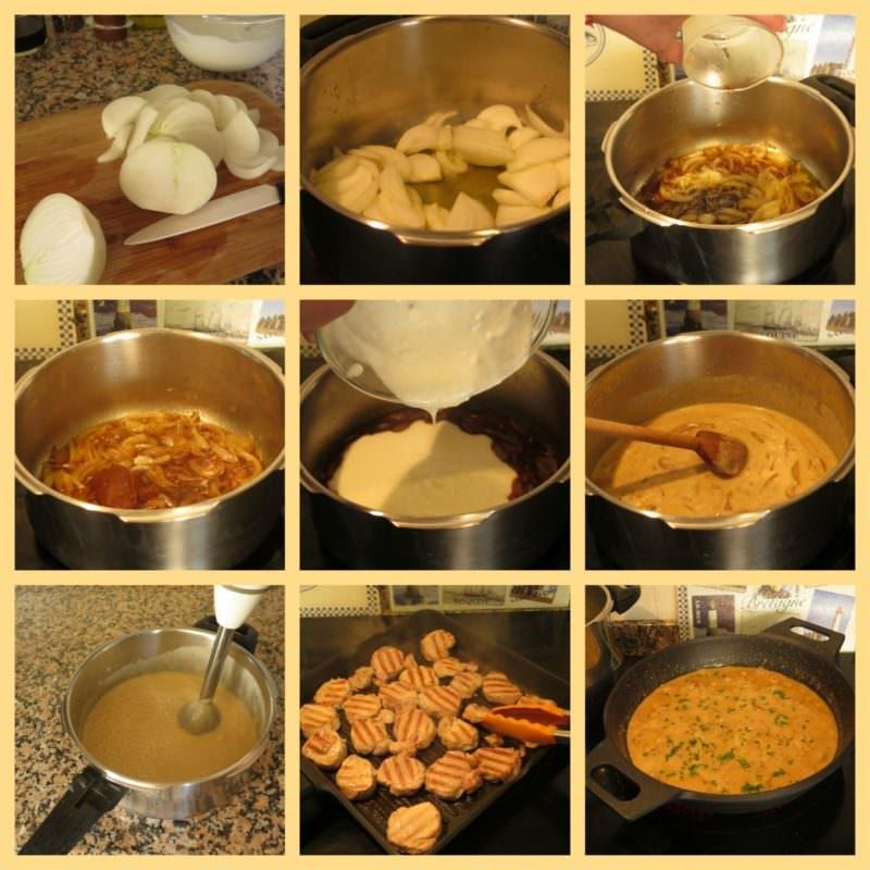 Pasos Solomillo de Cerdo en Salsa de Yogur