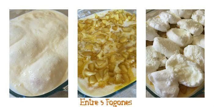 Pasos Soufflé de Manzana con Natilla Casera