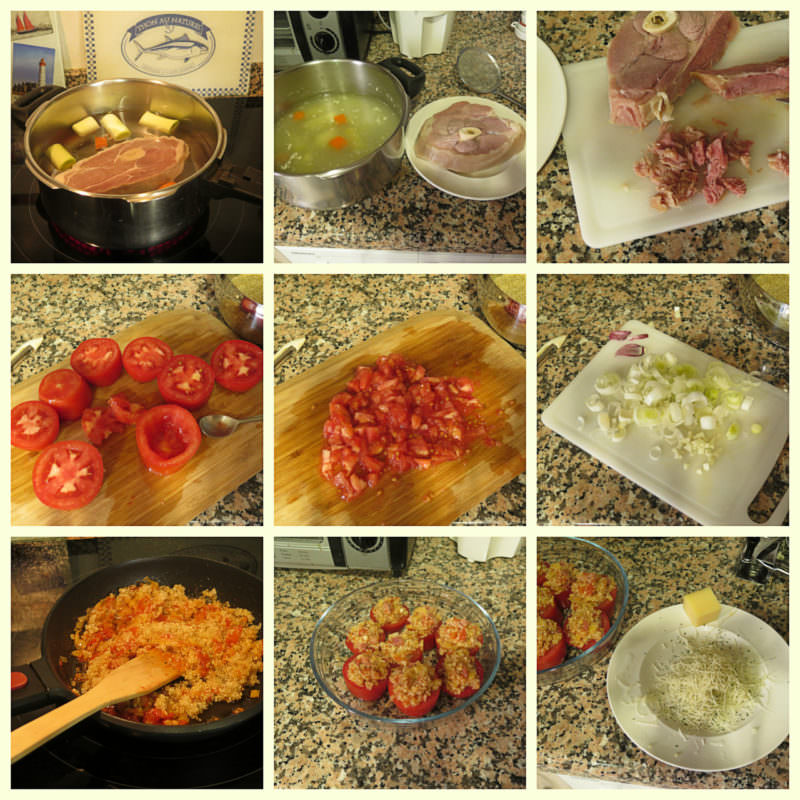Pasos Tomates de Quinoa y Lacón