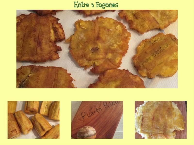 Pasos Carne Mechada sobre Tostón de Plátano Macho