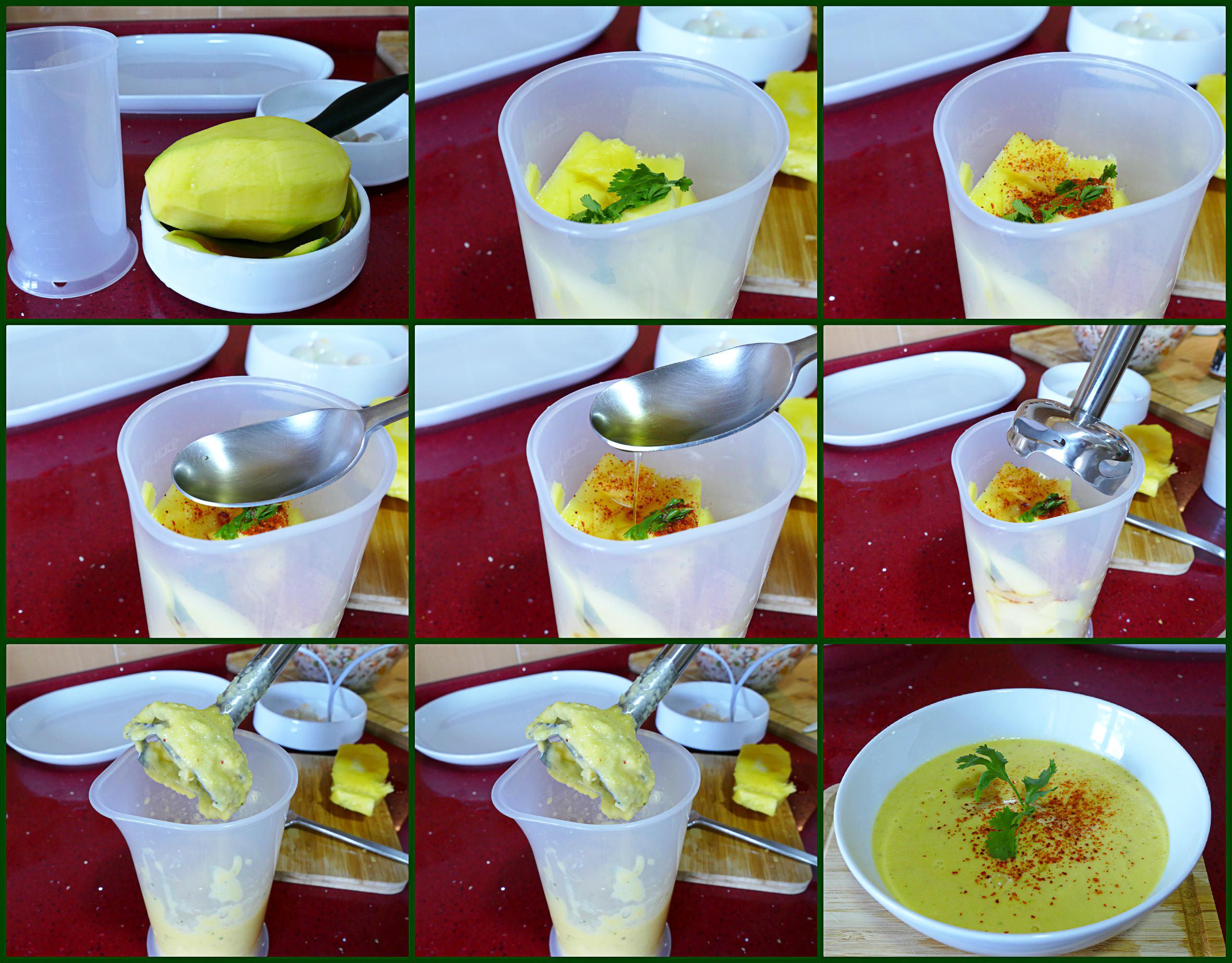 Pasos Vinagreta de Mango para Ensaladas