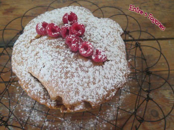 Pastel de Chocolate blanco y spéculoos