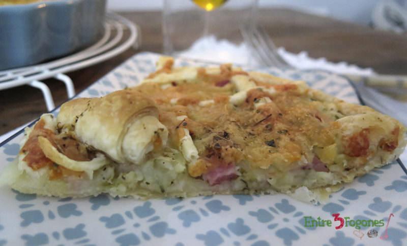 Crostata de Patatas y Jamón York