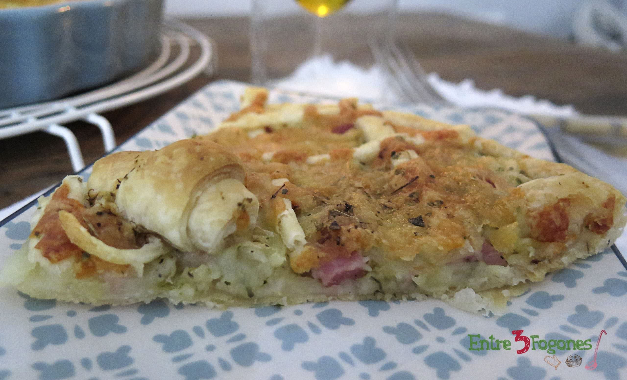 Photo of Crostata de Patatas y Jamón York sobre Hojaldre