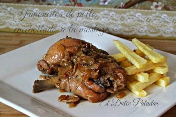 Pollo Encebollado a la Mostaza