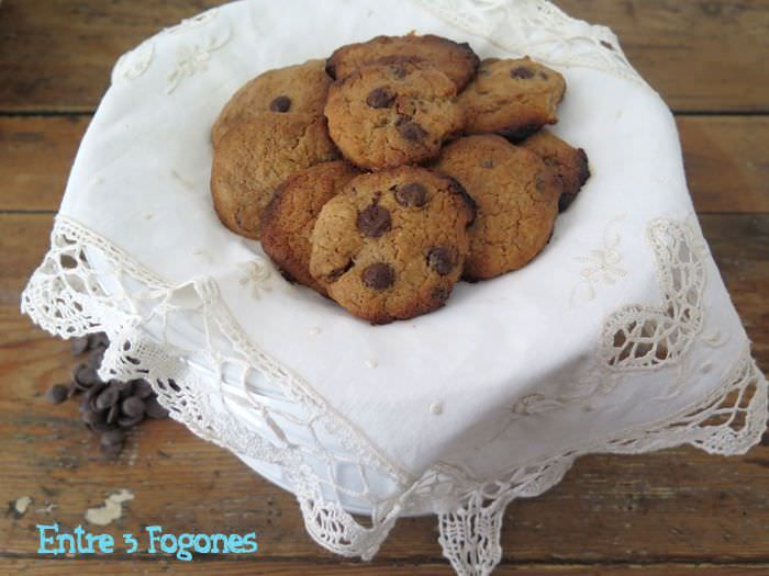 Photo of Cookies con Pepitas de Chocolate y Praliné