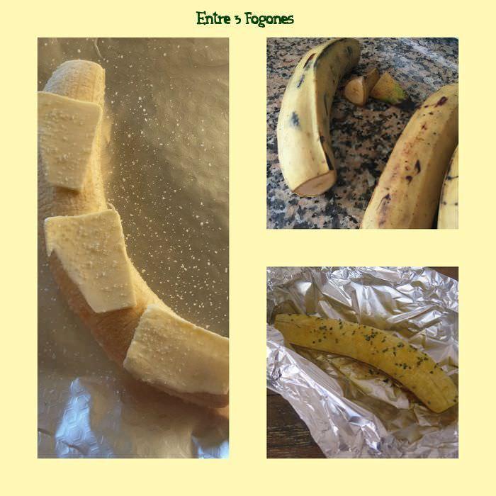 Preparando Guarnición de Plátano Macho al Horno