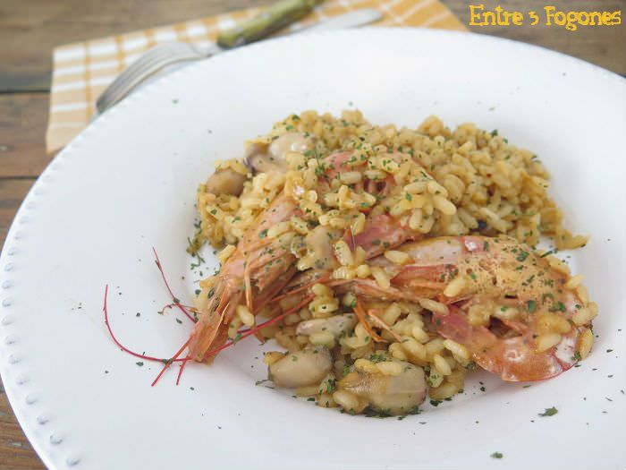 Arroz con Gambones y Chopitos