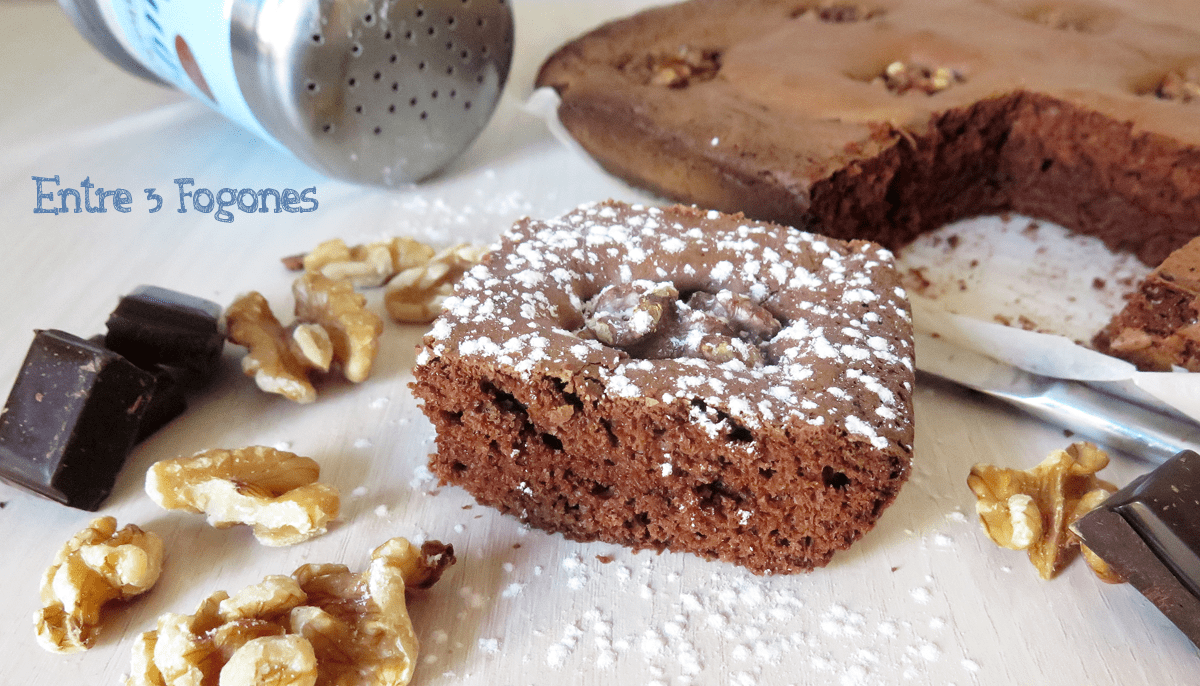 Brownie de Chocolate Puro y Nueces